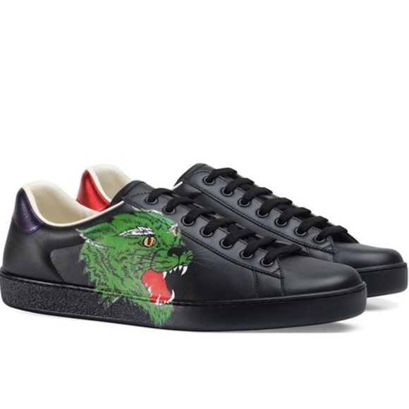 Gucci Shoes   Nwb Gucci Black Ace